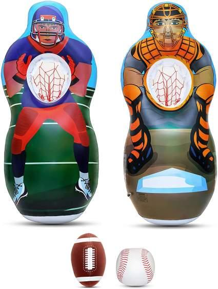Inflatable Two Sided Football & Baseball Target Set