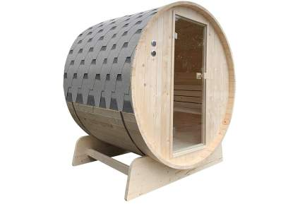 ALEKO Outdoor Pine Barrel Sauna