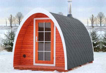 BZBCabins Barrel Igloo Sauna Kit