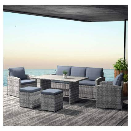 seven piece patio furniture set