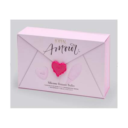 Cute pink envelope box with fake heart seal