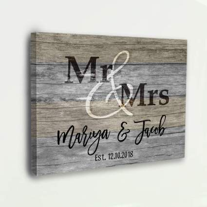 Mr. & Mrs. Personalized Wall Decor