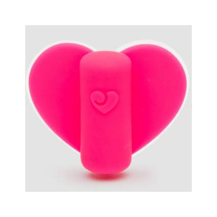 Pink silicone heart toy