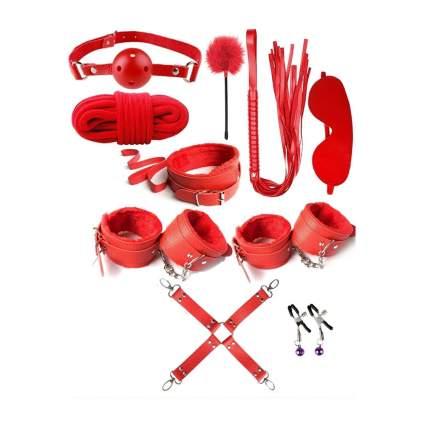 Bondage kit in red
