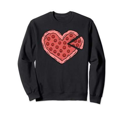 Cute Love Pizza Valentines Day Sweatshirt