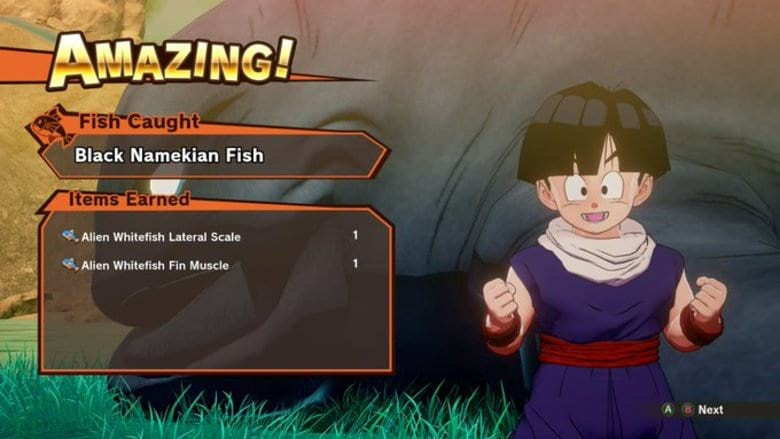 Alien Whitefish Fin Muscle in Dragon Ball Z Kakarot