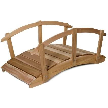 All Things Cedar 6' Cedar Garden Bridge with Side Rails