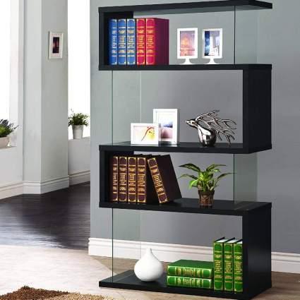 Asymmetrical Snaking Bookcase