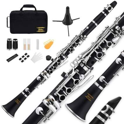 B Flat Clarinet Black Ebonite Clarinet Student Beginner