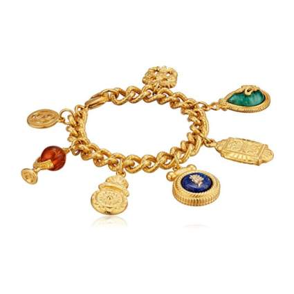 Ben Amun Jewelry Vintage-Inspired Royal Charm Bracelet