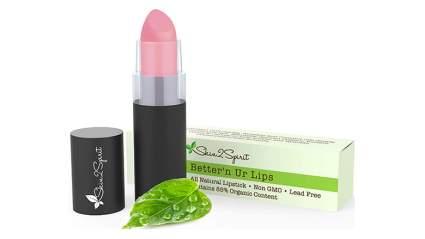 pale pink organic lipstick