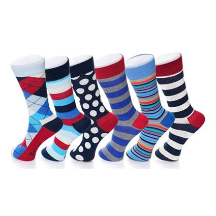 brightly patterned men's socks