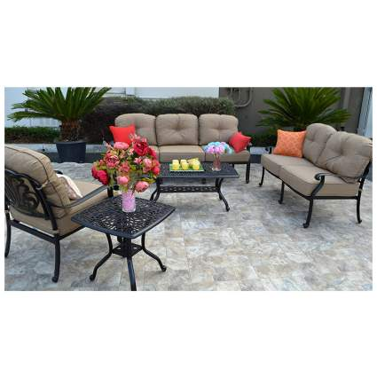 five piece wrought iron seating set