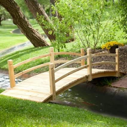 21 Best Garden Bridges For Your Lawn Or, Redwood Garden Bridges