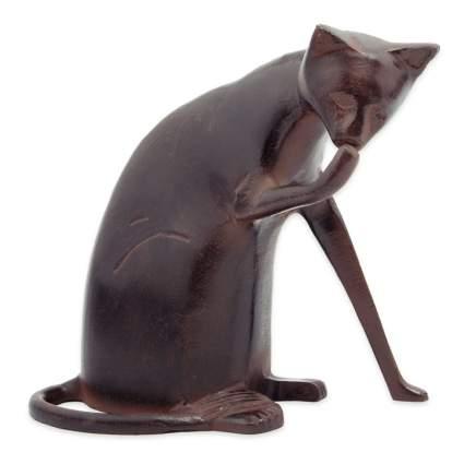 coy cat garden statue