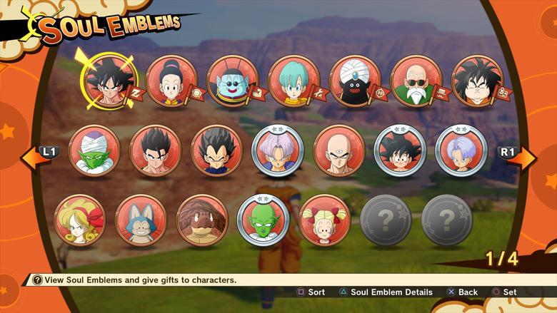 DBZ Kakarot Soul Emblems