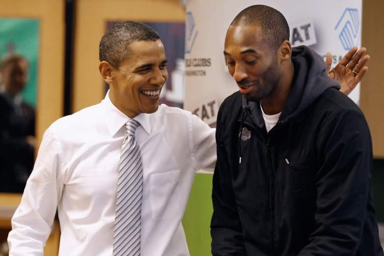 President Barack Obama and Kobe Bryant