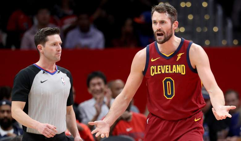 Kevin Love, frustrated