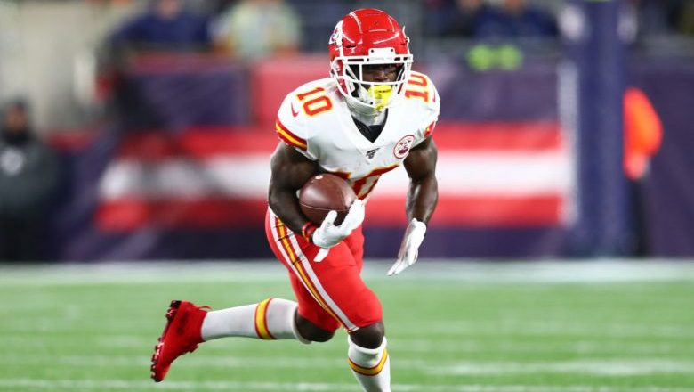 Kansas City Chiefs Tyreek Hill 40-yard dash time and speed