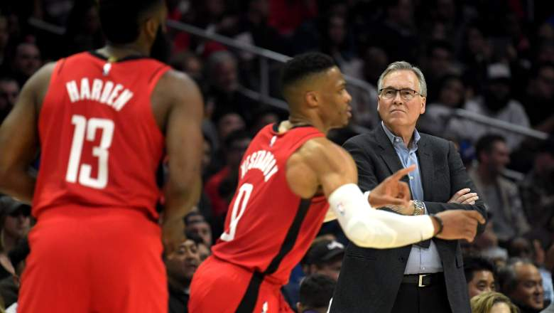 Rockets coach Mike D'Antoni and his two stars