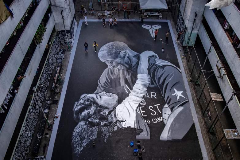 Kobe and Gianna Bryant Mural