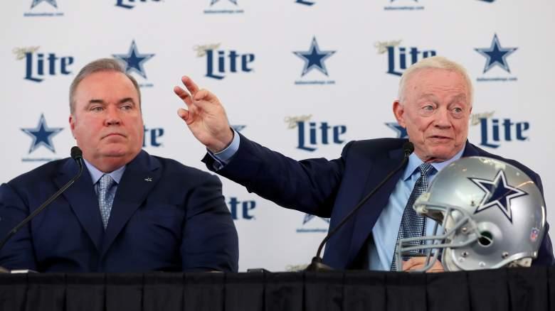 Cowboys HC Mike McCarthy, owner Jerry Jones