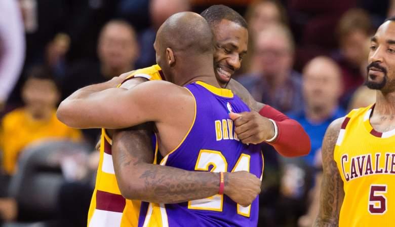 LeBron James and Kobe Bryant, 2016