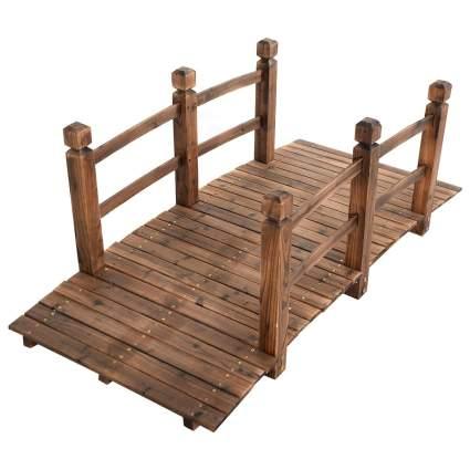 HappyGrill 5' Wooden Garden Bridge