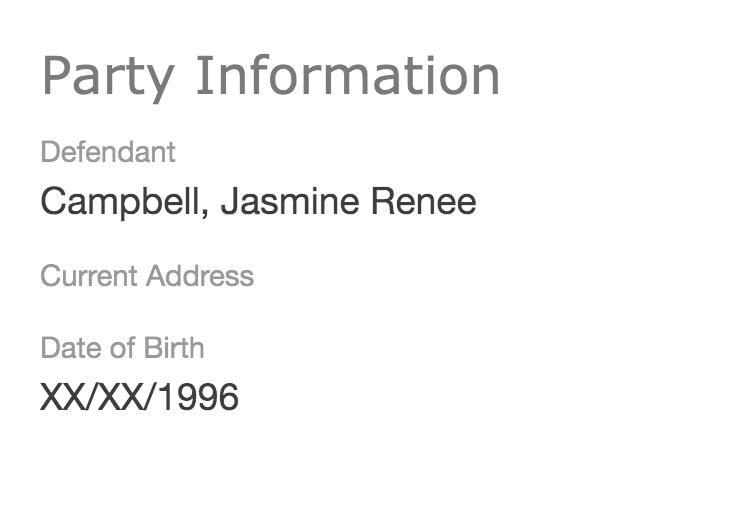 Jasmine Renee Campbell warrant