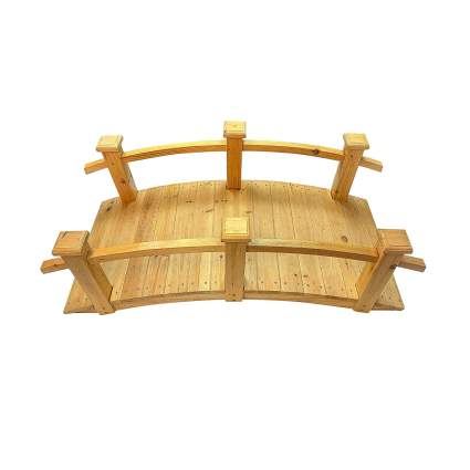 Master Garden Products 5' Windsor Cedar Wood Bridge
