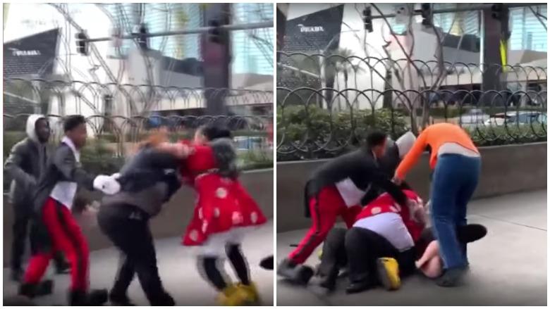 Minnie Mouse brawl