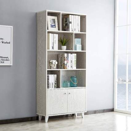 Modern Bookcase with 2 Doors
