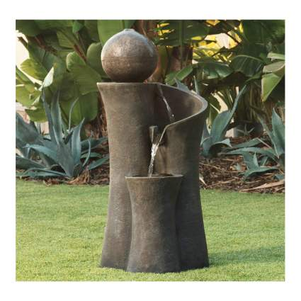 modern sphere outdoor fountain