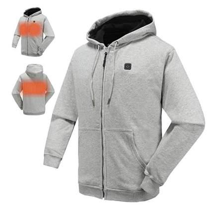 NIFVAN Full-Zip Fleece Heated Hoodie