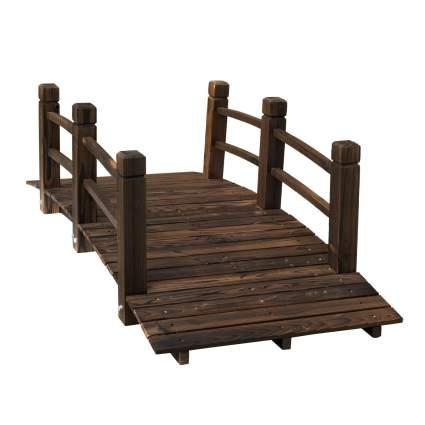 Outsunny 5' Wooden Garden Bridge