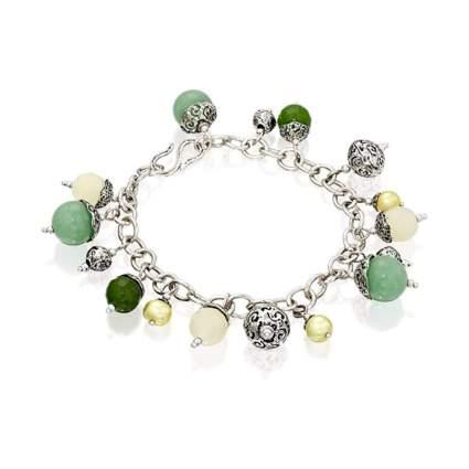 Paz Creations Jade Gemstone Charm Bracelet