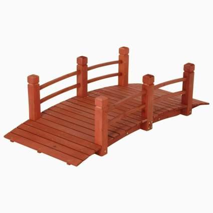 PierPlus 5' Wooden Garden Bridge