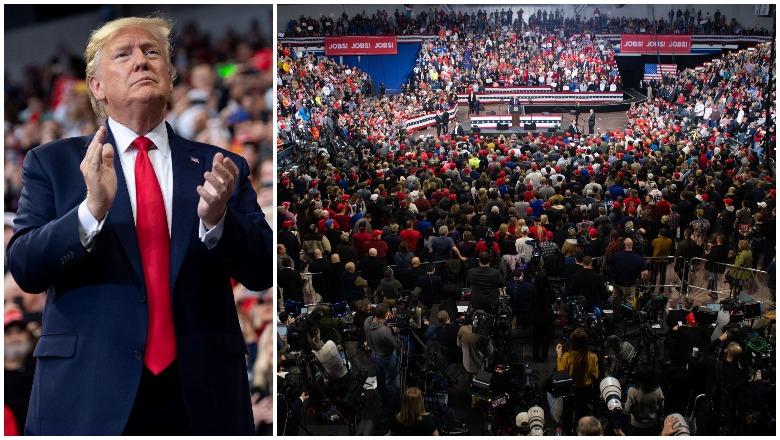 Trump Iowa Rally Crowd Size
