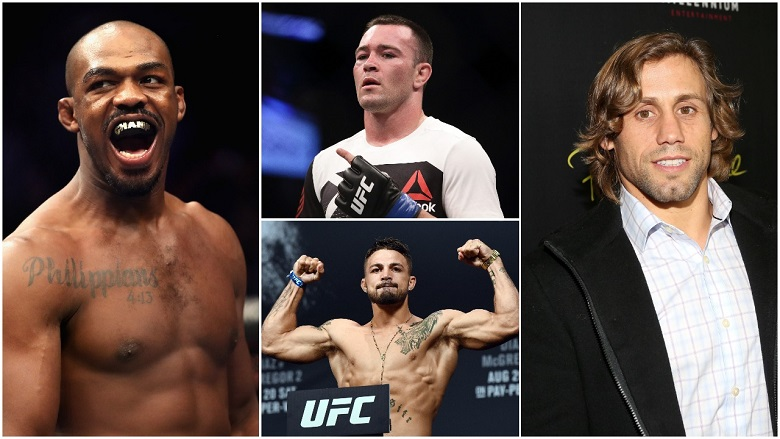 Jones Jones, Colby Covington, Mike Perry and Urijah Faber