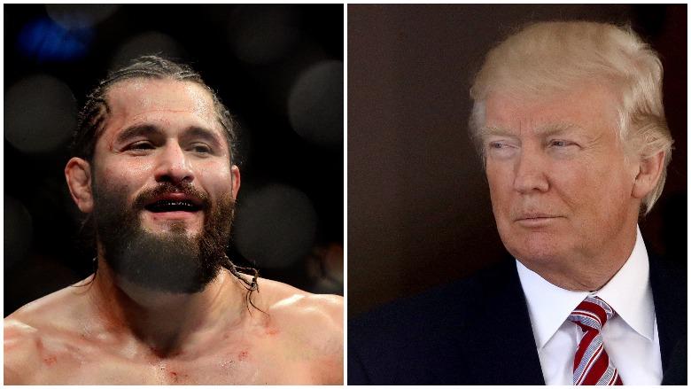 UFC's Jorge Masvidal and President Donald J. Trump