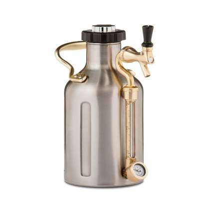 pressurized stainless steel chrome growler