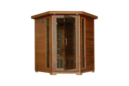 Radiant Saunas 4-Person Cedar Corner Infrared Sauna