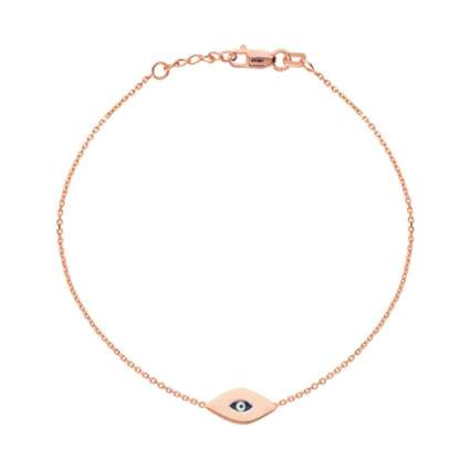 Rita Stephens Rose Gold Mini Evil Eye Charm Bracelet