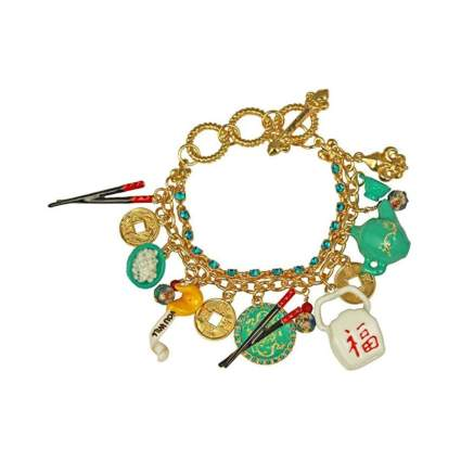 Ritzy Couture Chinese Takeout Charm Drop and Dangle Bracelet