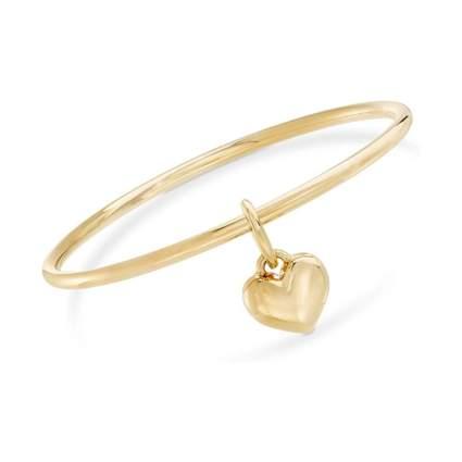 Ross Simons Italian Andiamo Gold Heart Charm Bracelet