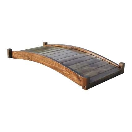 SamsGazebos 6' Zen Japanese Style Wood Garden Bridge