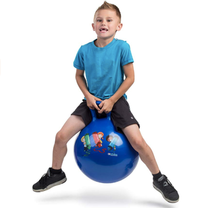Hippity Hop 45 cm / 18 Inch Diameter Including Free Foot Pump, for Children Ages 3-6 Space Hopper