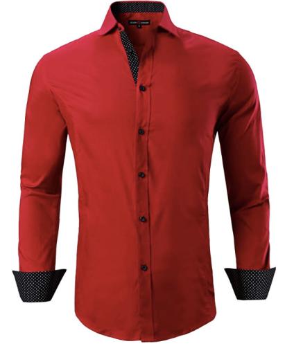 Men's Red Dress Shirt