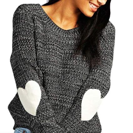 Heart Patchwork Valentine Knit Sweater