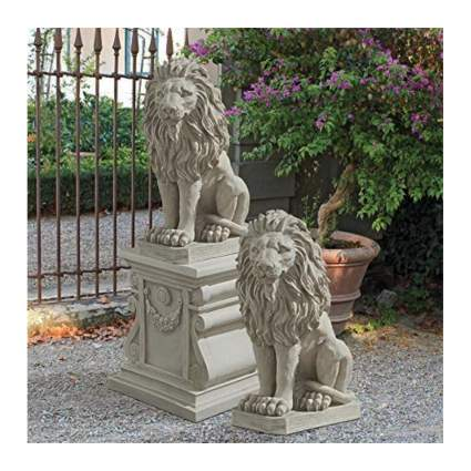 sentinal lion sculptures